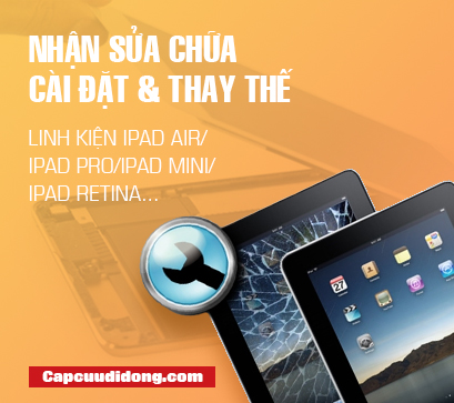 Nhan sua chua cai dat that the linh kien Ipad